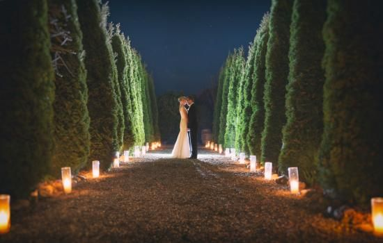 Glass Cylinder Vases for exterior candlelight with @simplyperfect and @richbayleyphoto