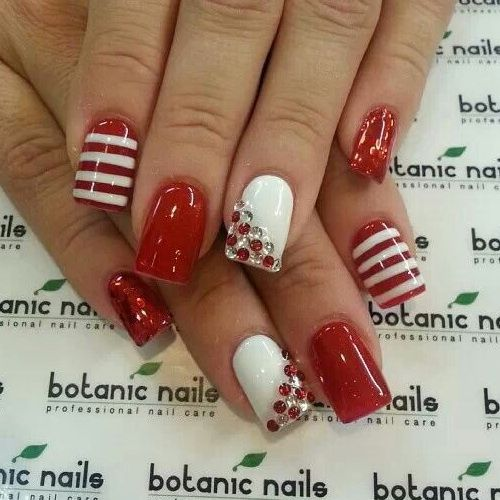 Red Nail Designs For Short Nails - Best 25+ Cute Red Nails Ideas On Pinterest Red And Silver Nails