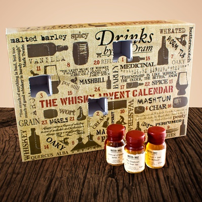 Count down the days with this awesome alcohol advent calendar; swap that cheap chocolate, for 24 individual drams of delicious whisky.
