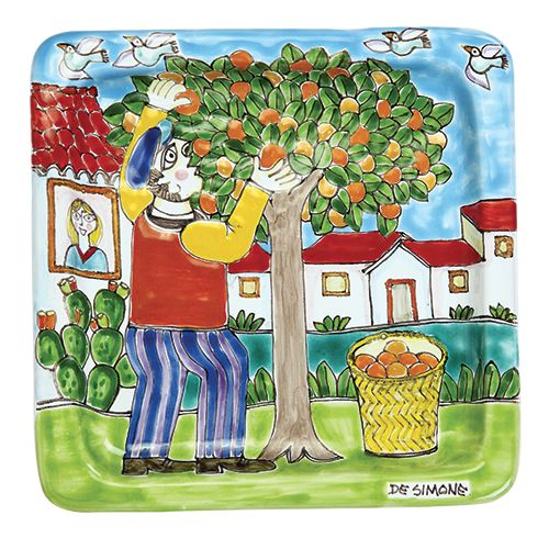 Ceramiche De Simone - DS Style: Square Plate cm 20x20 Decoration31