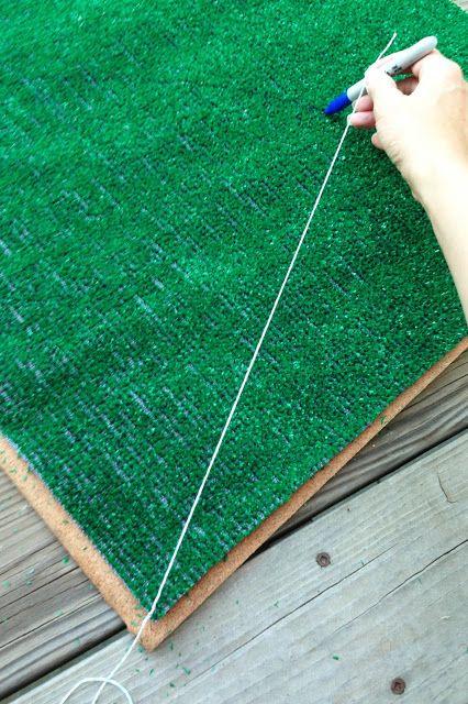DIY Baseball Diamond Bulletin Board - Landee See Landee Do