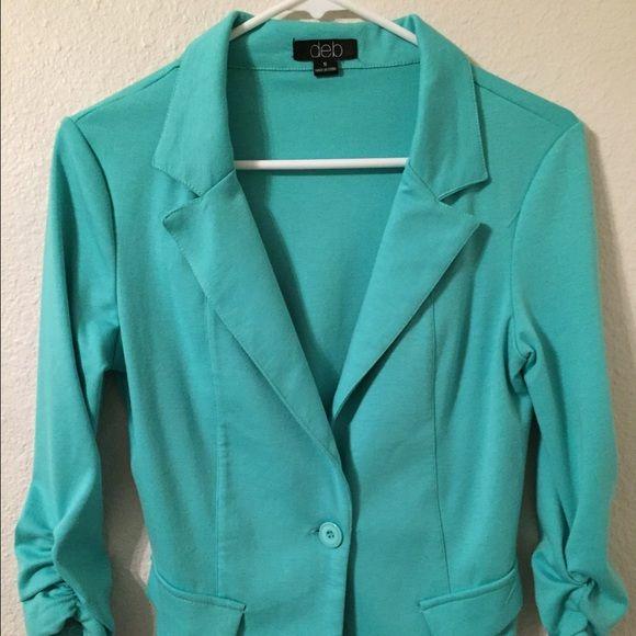 Mint Green Blazer 3/4 Sleeve Mint Green Blazer. Only worn a few times. Super cute for spring and summer months. Jackets & Coats Blazers