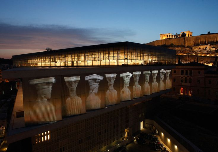 Night view of the #Acropolismuseum in #Athens nearby the #boutiquehotel #Athenswas  #athenshotels #boutiquedesignhotels
