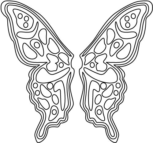 fairy coloring sheet butterfly fairy wings printable