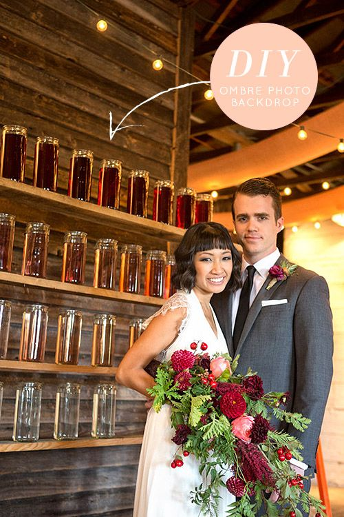 Wedding DIY: Ombre Water Photo Backdrop | Design*Sponge