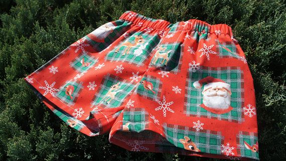 Boys Christmas Santa boxer shorts boy underwear by restintheword