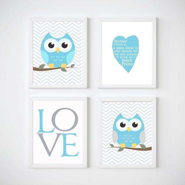 Owls Nursery Room Wall Decor, Print your own decor, Brother