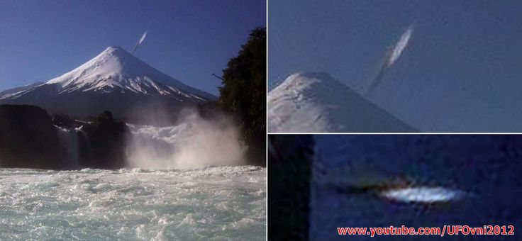 Cigar Shaped UFO Appears To Take a Nosedive Directly Into Osorno Volcano...