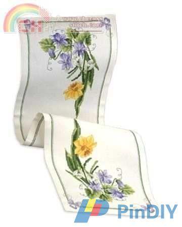 [New] Permin 63-2585 Tablerunner Springflowers -