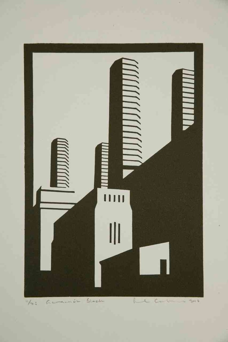 Paul catherall linocuts exhibition at paul mcpherson gallery london