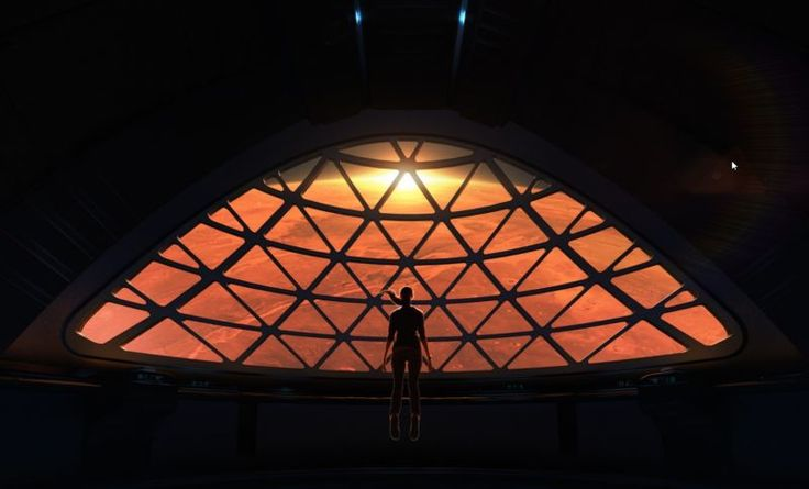 Need details on SpaceX's Mars mission?  What the view of Mars might look like from inside the Interplanetary Transport System. Image via SpaceX.