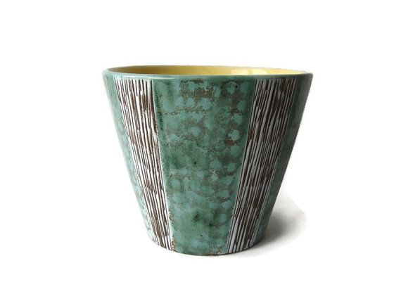 Mid Century Modern large ceramic planter from the 50's