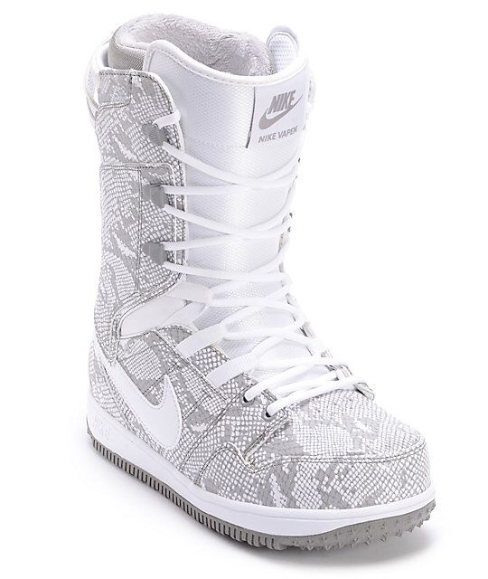 reputable site 2e2fa c6be3 Nike Womens Vapen White Snowboard Boots  FASHIONISTA G! NIKE  Pinterest   Boots, Snowboard and Nike women