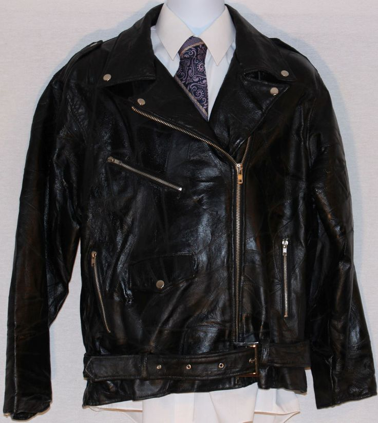 NWT Black Patchwork Leather Flight Path Asymmetrical Zip Punk