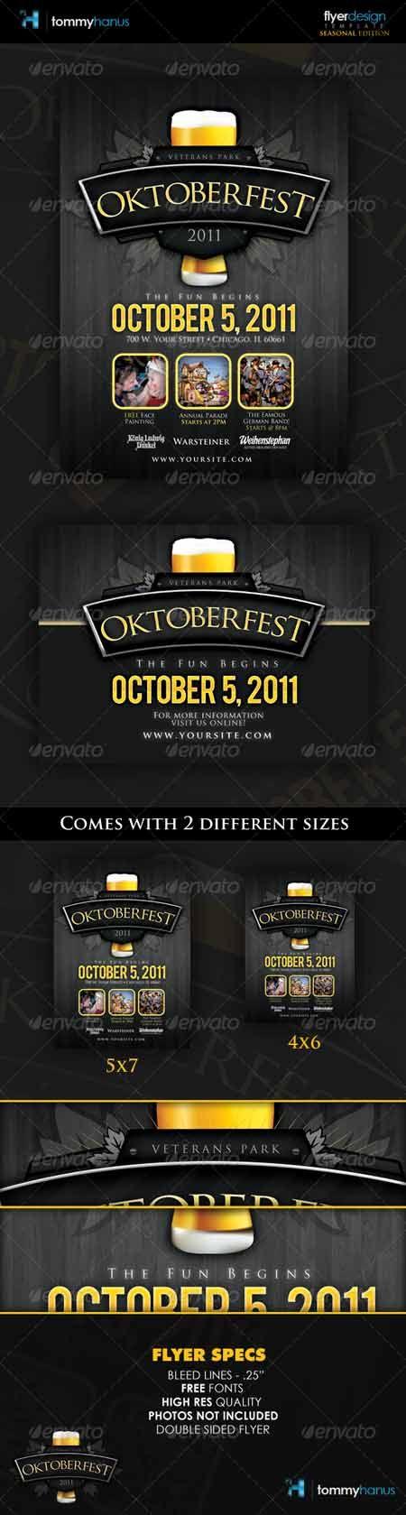 23 best beer images on Pinterest Flyer template, Print templates - event brochure template