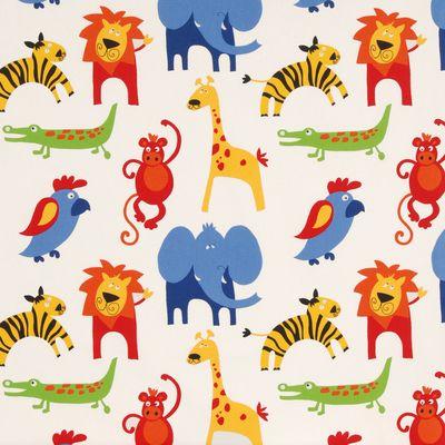 33 best 3 little kids 1 room images on pinterest for Childrens animal fabric