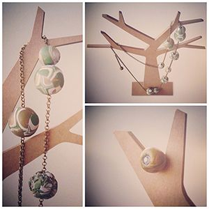 Bisuteria fimo y Sculpey cadena bronce. #fimo,#sculpey,#moda,#complementos. http://sofiasthings.com.