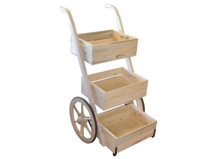 Vendor's Hand Cart-Ready to Assemble Display Wagons & Carts | Hansen Wheel and Wagon