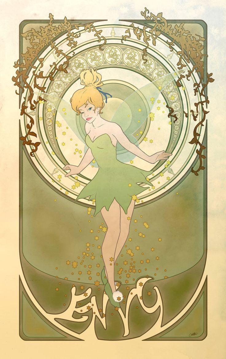 The Seven Disney Sins: Envy: Alphon Lot, Religious Art, Disney Princesses, Tinker Belle, Disney Art, A Tattoo, Art Nouveau Disney, Seven Dead Sin, Peter Pan