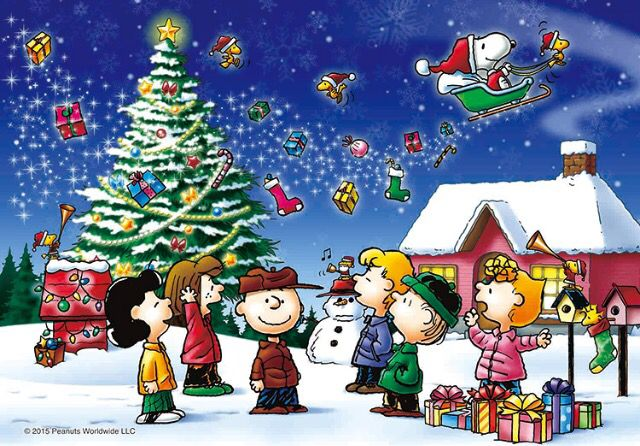 A Charlie Brown Christmas, with all of the Peanuts Gang.