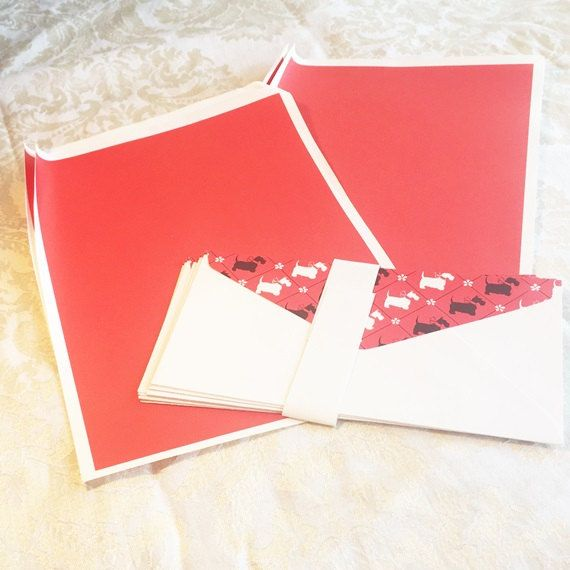 Scotty Dog Stationery / Vintage Red Writing Paper and Envelopes by vintagepoetic 4.00 on Etsy