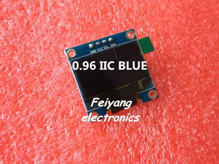 """1 قطع 0.96 """"الأزرق 0.96 بوصة oled وحدة جديدة 128x64 شاشة oled lcd led وحدة لاردوينو 0.96"""" iic i2c التواصل"""