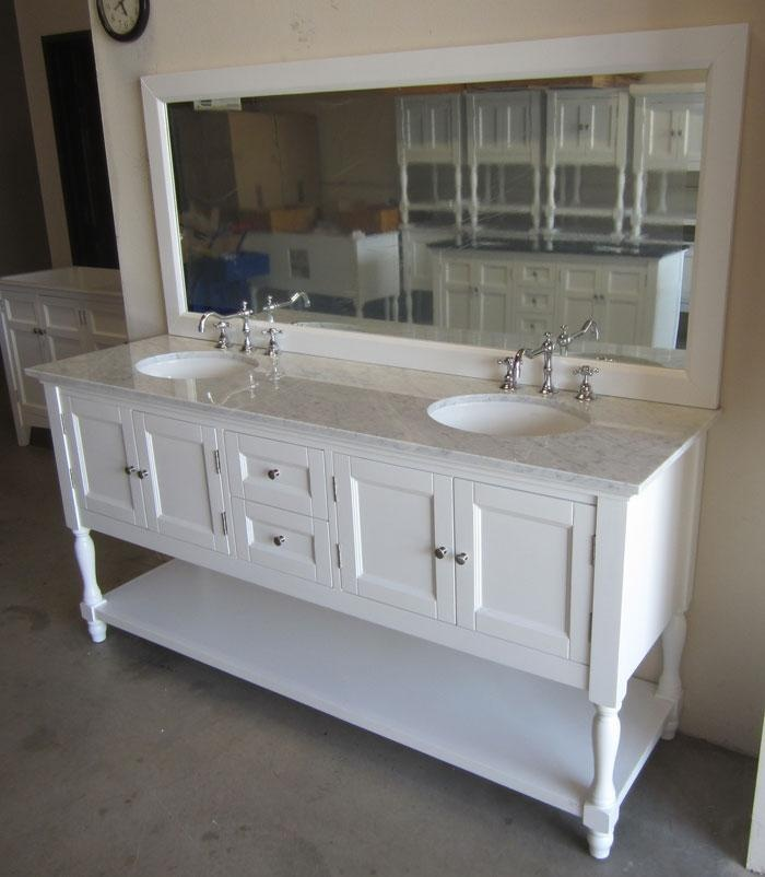 Make Photo Gallery Westwood double Inch USA Made Plantation Style Bathroom Vanity w Top and