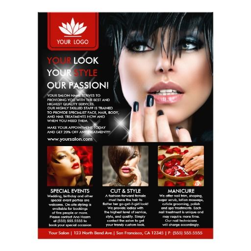 Best Spa And Salon Flyers Brochures Coupons And More Images