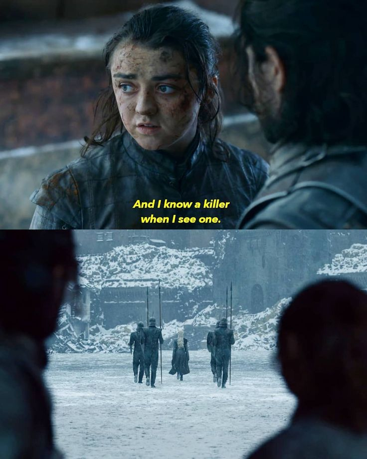 No offense Arya but the bitch just slaughtered a city.