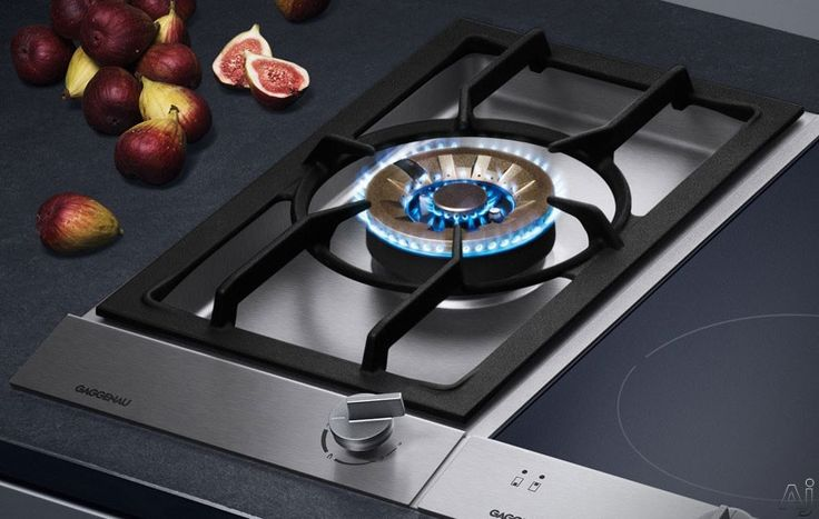 """Gaggenau VG231214CA 12"""" Gas Modular Wok Cooktop with 3-Ring 17,000 BTU Brass Burner, Cast Pan Support, One-Handed Operation and Safety Thermocouple Ignition"""