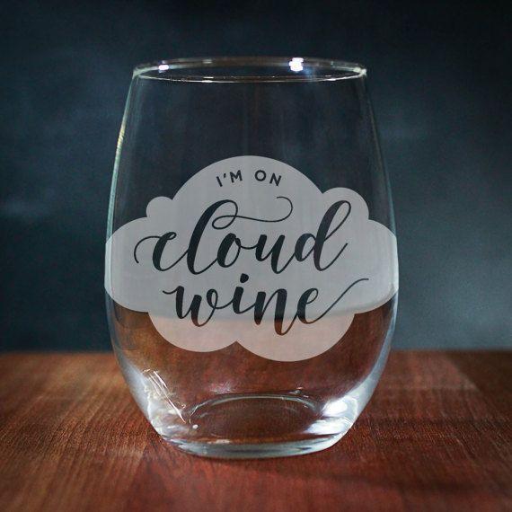 Funny Wine Glass Engraved Wine Glass Stemless Wine Glass