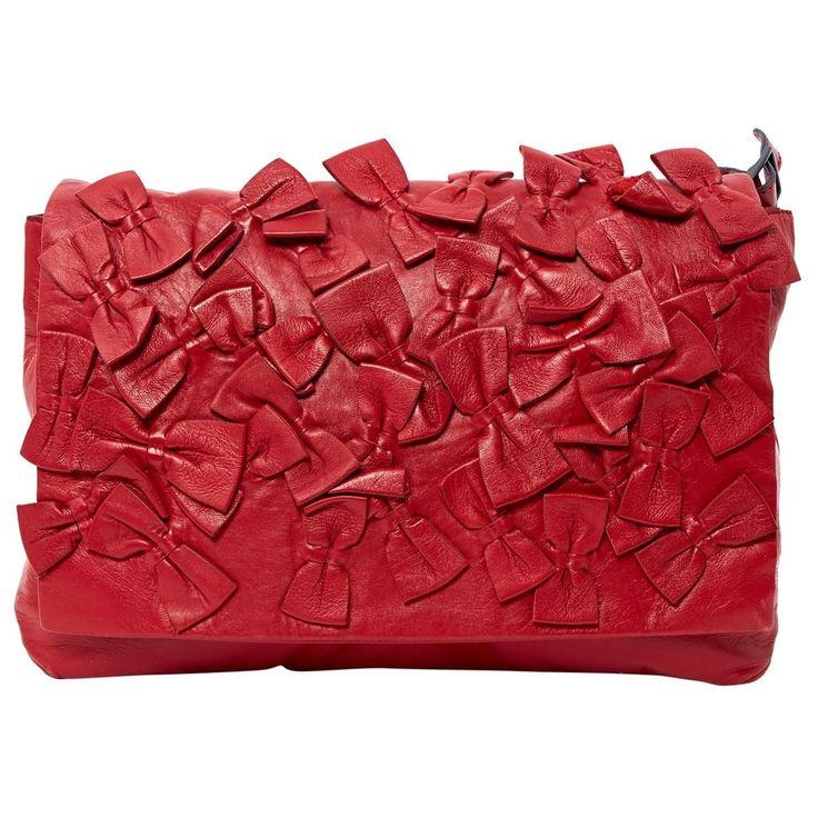 Leather Handbag – Red – Valentino Shoulder bags #redleatherhandbags