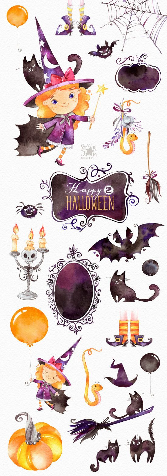 This Haloween clipart set is just what you needed for the perfect for Haloween projects, paper products, party decorations, printable, greetings cards, posters, stationery, scrapbooking, stickers, t-shirts, baby clothes, web designs and much more. :::::: DETAILS :::::: This collection includes: - 26 Elements in separate PNG files, transparent background, different size approx.: 12-4in (3600-1200px) 300 dpi RGB All Halloween Sets https://www.etsy.com/shop/StarJamforKids?ref=hdr_shop_menu&s...