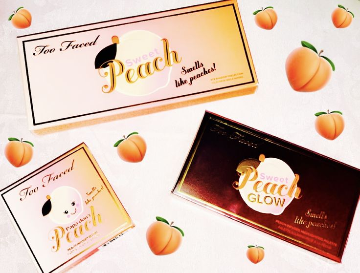 Feeling peachy with Too faced cosmetics