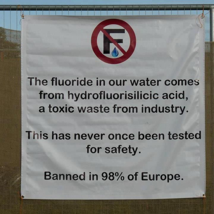 Fluoridation, banned or never started in 98% of European countries.