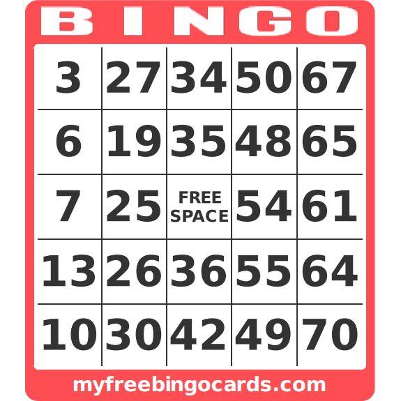 myfreebingocards.com - free printable bingo card generator