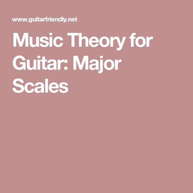 Music Theory for Guitar: Major Scales