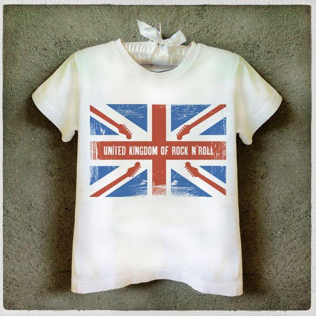 United Kingdom of Rock n' Roll T-Shirt Kids T-shirt Camiseta infantil Rock n'Roll Graphic Tee