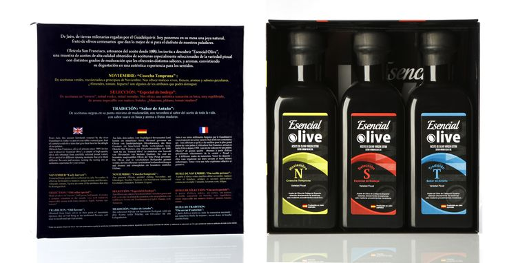 #gourmet #delicatessen #oliveoil Esencial Olive is a trio of best olive oils from Jaen  Trio set composed by: Noviembre + Selección + Tradición
