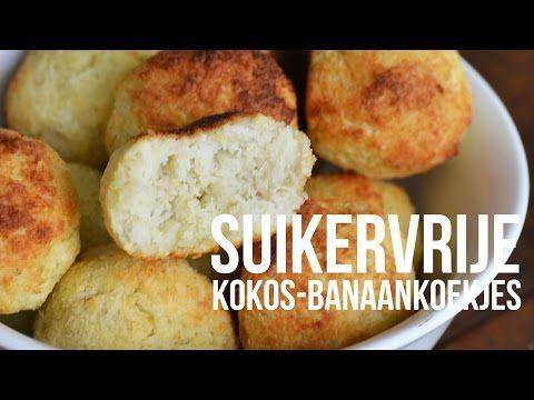Suikervrije kokos-banaankoekjes - YouTube