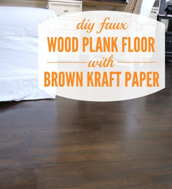 DIY Faux Wood Plank Floor and More Links I Like