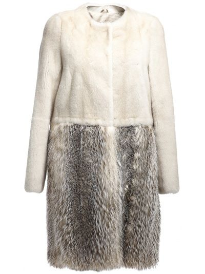 245 SAINT HONORÉ BY YVES SALOMON Mink And Badger Fur Coat