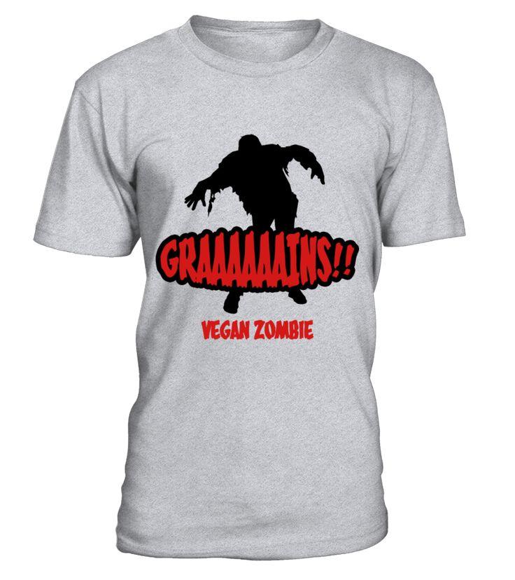 Graaaains!!! Vegan Zombie T-Shirt  Funny halloween bat T-shirt, Best halloween bat T-shirt