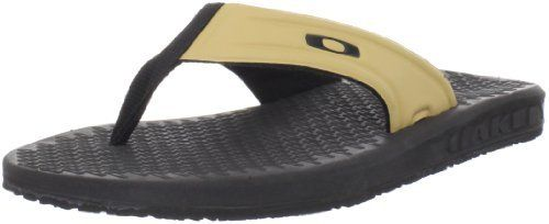 New Oakley Men's Campaign Microban Tan/Black Sandals Flip Flops Men's Size 14