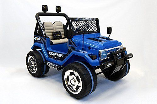 2016 Blue Jeep Wrangler Power Kids 12V Ride on Toy Remote Control Battery Wheels Rc Style Car for Kids