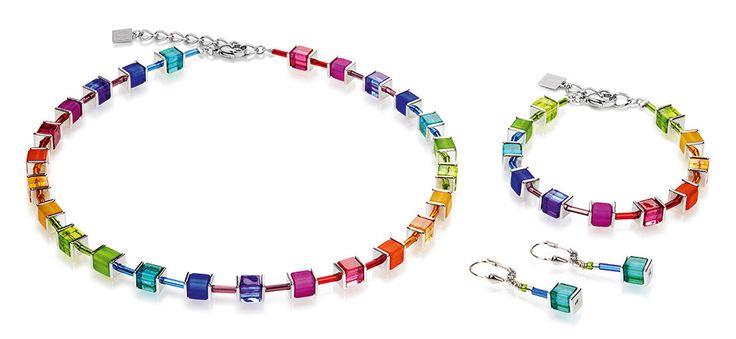Geo Cube polaris rainbow multicolour set 3986_1500 – coeur de lion jewellery