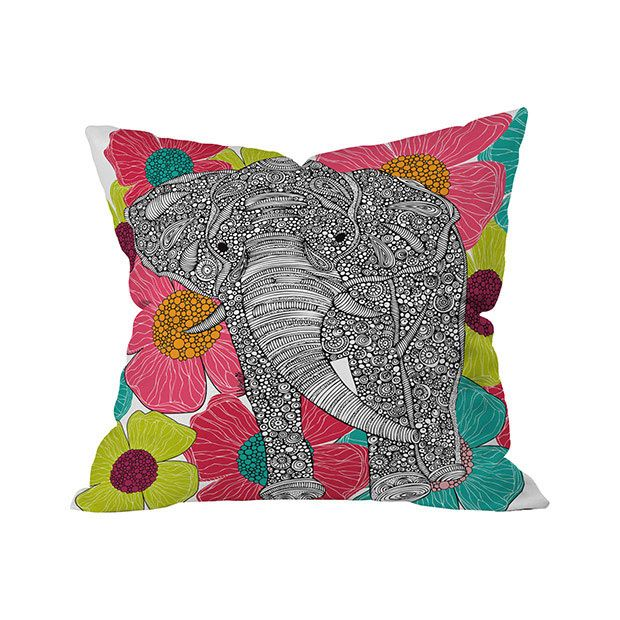 Don't look now, but there's an elephant stomping through your flower beds. We're kidding. This Garden Crasher Outdoor Throw Pillow sure suggests such a funny scene, with its magnificently drawn pachyde...  Find the Garden Crasher Outdoor Throw Pillow, as seen in the Outdoor Pillow Sale  Collection at http://dotandbo.com/collections/outdoor-pillow-sale-2016?utm_source=pinterest&utm_medium=organic&db_sku=105575