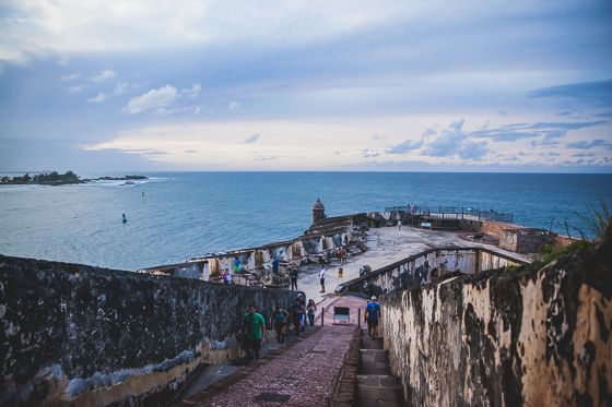 The view of the bay from El Morro, Pureto Rico, a 400 year old fort.