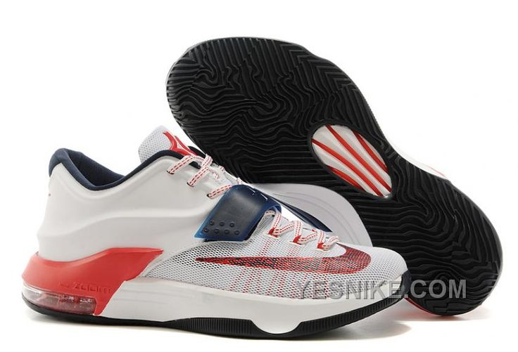 """http://www.yesnike.com/big-discount-66-off-nike-kevin-durant-kd-7-vii-usa-white-obsidianuniversity-red-for-sale.html BIG DISCOUNT ! 66% OFF! NIKE KEVIN DURANT KD 7 VII """"USA"""" WHITE/OBSIDIAN-UNIVERSITY RED FOR SALE Only $108.00 , Free Shipping!"""