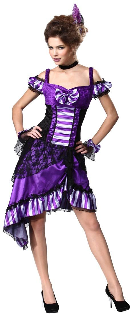 Western Saloon Gal Sexy Costume - Saloon Girl Costumes